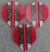 5 Packets of Brand New Ruthless Extra Strong Darts Flights - Purple