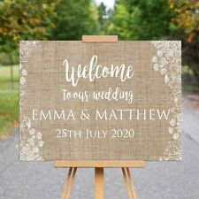 Wedding Welcome Canvas Sign - welcome to our wedding