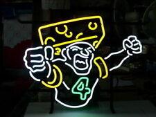 """New Green Bay Packers Brett Favre Cheese Head Neon Light Sign 32""""x24"""" Bar  Beer"""