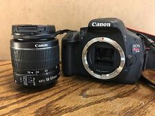 Canon Eos Rebel T3i 18.0 MP DSLR With EF IS II 18-55mm Lens Kit  (2 LENSES)