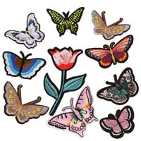 Butterfly Embroidered Patches Fabric Stickers Iron on Dress Cap Hat Jeans Badge