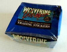 1990 Wolverine Untamed sticker cards sealed box - Comic Images
