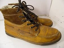 Aldo Brown Leather Lined Ankle Boots Chukka Hiking Winter Mens Sz 45 Romania