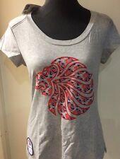 Adidas T-Shirt Team GB Olympics UK 16 Womens Grey Lion Head Union Jack (15)