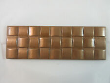 """Red Copper Basket Weave Solid Metal 6"""" X 2"""" Accent Tile Brass Elegans 51Bw-Rc"""