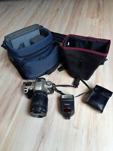 Canon EOS 500N mit Tamron AF Aspherical LD 28-200mm 1:3.8-5.6 D=72 und Zubehöhr