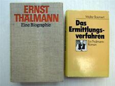 2 Bücher Ernst Thälmann - Eine Biographie + Das Ermittlungverfahren 1979 + 1987