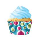 Cupcake Creations Paper Cups, Blue Fiesta, Pack of 32