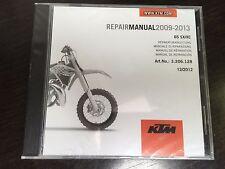 KTM Repair Manual CD for 2009-2013 65 SX, XC Art. No.:3.206.128