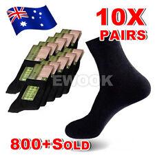 OZ Mens Bamboo Socks Natural Comfortable Healthy Anti-baterial Odor 10 Pairs