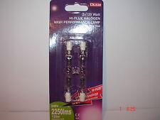 Halogen security flood light floodlight bulb 78mm 120w (157w)  R7s cap pack 2