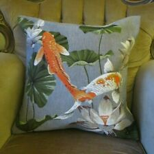 KOI CARP AQUATIC TAPESTRY CUSHION PILLOW COVER ONLY