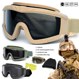 Tactical Anti Fog Airsoft Goggle Safety Glasses Military Hunting Goggle Army NEW