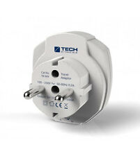 USB Travel Plug Adaptor UK to Europe - ideal for mobile phone and tablets