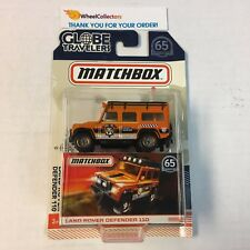 Land Rover Defender 110 * 2018 Matchbox Globe Travelers w/ Real Riders