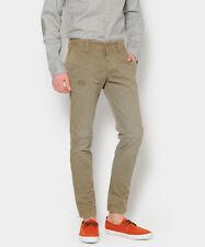 pantaloni uomo Brian Dales kaki W 32 L 34 casual pants mens cotton