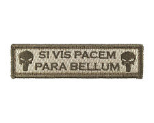 SI VIS PACEM PARA BELLUM 1x4 Fully Embroidered Hook & Loop Morale Tags Patch SUB