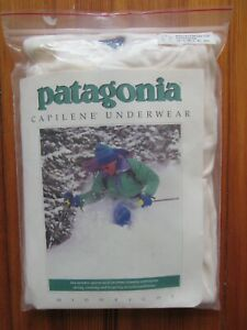 Vtg NOS 1990 Patagonia Capilene Wallace Beery Long Sleeve Snap T Shirt M 80s 90s