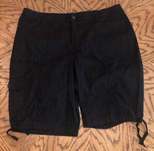 "St. John's Bay Women's Size 18W 11.5"" Bermuda Shorts Black ~ NEW"
