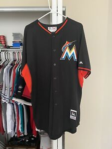 Miami Marlins game used bp jersey #24 Leary