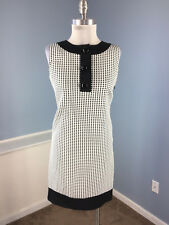 Donna morgan Anthropologie XS 2 Black White Shift dress Career Cocktail EUC WOW!