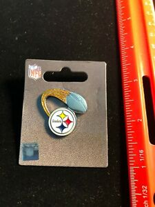 NEW Pittsburgh Steelers Glitter Trail Pin - Butterfly Pin Back - NFL Licensed