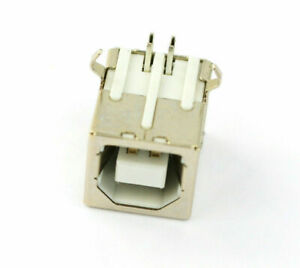 New Plug Port Connector Jack For USB 2.0 Type B Female Right Angle Replacement