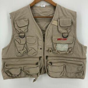 Eagle Claw Vest Men's Size M Beige Fly Fishing Utility Pockets