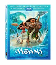 Moana 3D [2017] Blu-ray 3D+Blu-ray+DVD+Digital & Lenticular Slipcover OOP