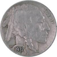 1937 S Indian Head Buffalo Nickel 5 Cent Piece VF Very Fine 5c US Coin