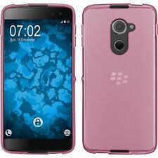 Silikon Hülle für BlackBerry DTEK60 rosa transparent + 2 Schutzfolien