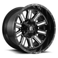 (4) 20x12 Fuel Gloss Black & Mill Hardline Wheels 6X135 6X139.7 For Toyota Jeep