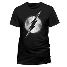 Official The Flash Logo T Shirt Black Mono Distressed NEW S M L XL XXL 479