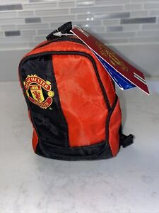 Build A Bear Accessories Red Fabric Back Pack~Adjustable Straps Soccer