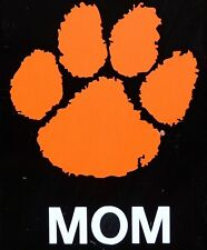 "CLEMSON TIGERS ORANGE PAW MOM DECAL STICKER 4"" X 5"""