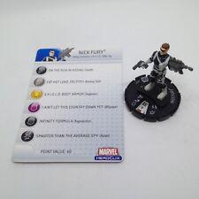 Heroclix Captain America set Nick Fury #207 Gravity Feed figure w/card!