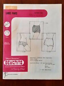 BEVKNITS PATTERN - 7007 LADIES PANTS PANTIES UNDERWEAR GIRDLE 8-20 PLUS UNCUT