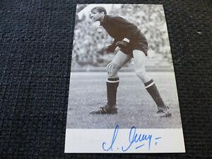GOALKEEPER LEV YASHIN signed autograph on a 4x6.5 autographcard LOOK