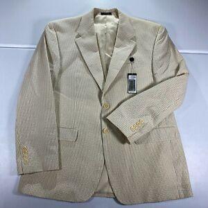 Polo Ralph Lauren Blazer Mens Size 40 S Sports Coat Beige Jacket Stripes New NWT