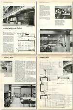 1960 Churchill Gardens Children's Library Pimlico Design, Plans