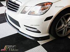 For 2011-2013 M-BENZ E250 E350 E550 Sedan CS Type Carbon Fiber Front Bumper Lip