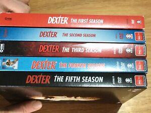 Dexter : Seasons 1 to 5 - 2 3 4 - Region 4 DVD Set - Great Condition - FREE POST