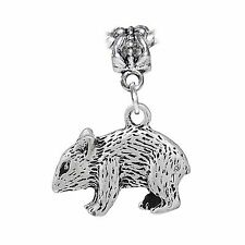 Mouse Rat Pet Animal Double Sided Rodent Dangle Charm for European Bead Bracelet