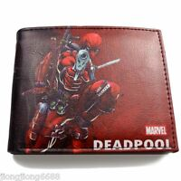 Deadpool Leather Wallet Marvel Comics Bi-Fold Genuine