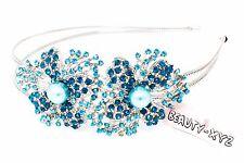 New Fashion Crystal Rhinestones metal big Flower design Headband Accessories