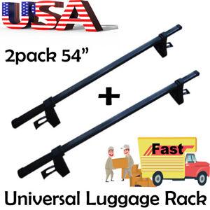 "2Pack 54"" Universal Roof Rack Cargo SUV Top Luggage Carrier Basket Holder Frame"