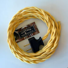 Waxberry Yellow - Cotton Rewire Lamp Cord Cloth Twisted Wire - Antique Fans