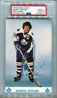 1978 Maple Leafs Darryl Sittler Autograph Postcard PSA 9 Auto POP 1