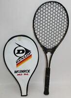 """DUNLOP McENROE MAD RAQ Vintage Tennis Racquet Racket L2 L4-1/2"""" w/Case Cover"""