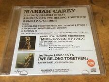 Mariah Carey - We Belong Together - 2005 Japanese Promo only Single.Very Rare.